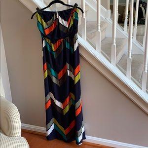 Strapless Maxi Dress - Printed